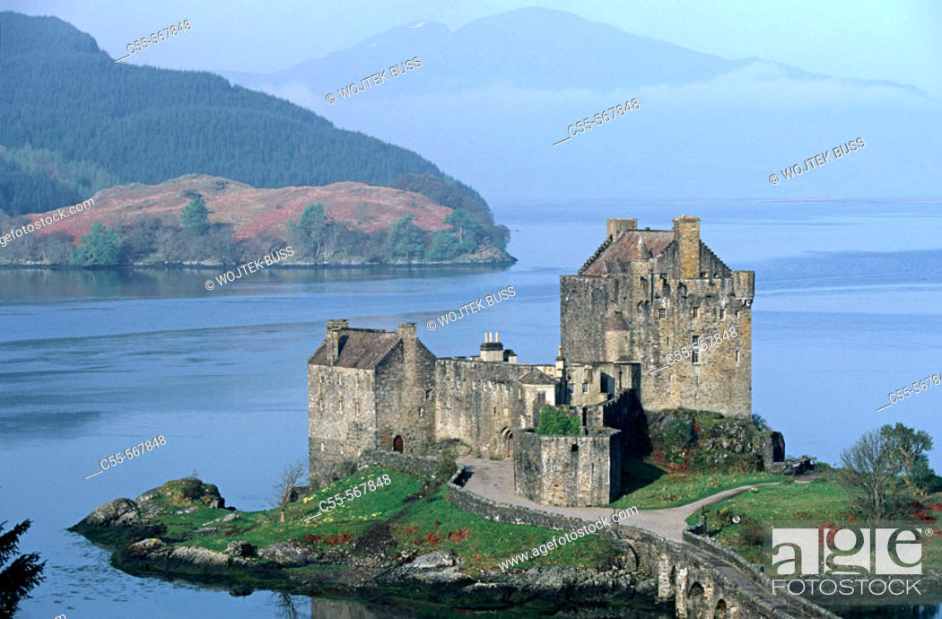 Stock Photo: Eilean Donan castle (XIII-XIVth c.). Loch Duich. Scotland. UK.