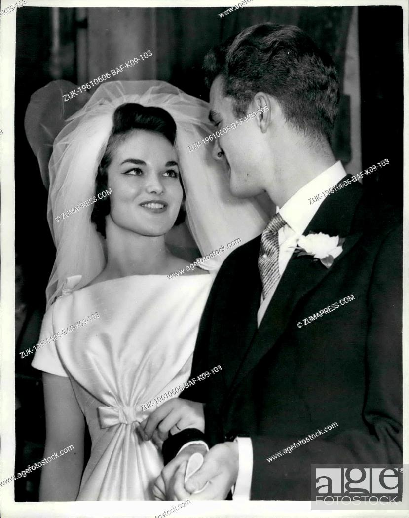 Stock Photo: Jun. 06, 1961 - Wedding of Henrietta Tiarks to the son of the Duke of Bedford: The wedding took place this afternoon at St.