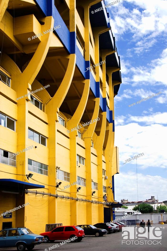 Stock Photo: Boca Juniors football stadium La Bombonera, Buenos Aires, Argentina.