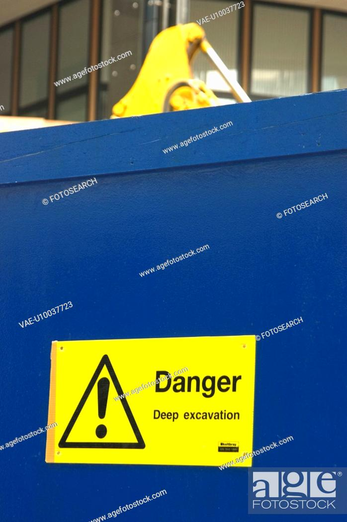 Stock Photo: Restricted access sign on hoarding.