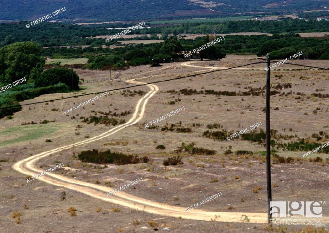 Stock Photo: Road through desert.