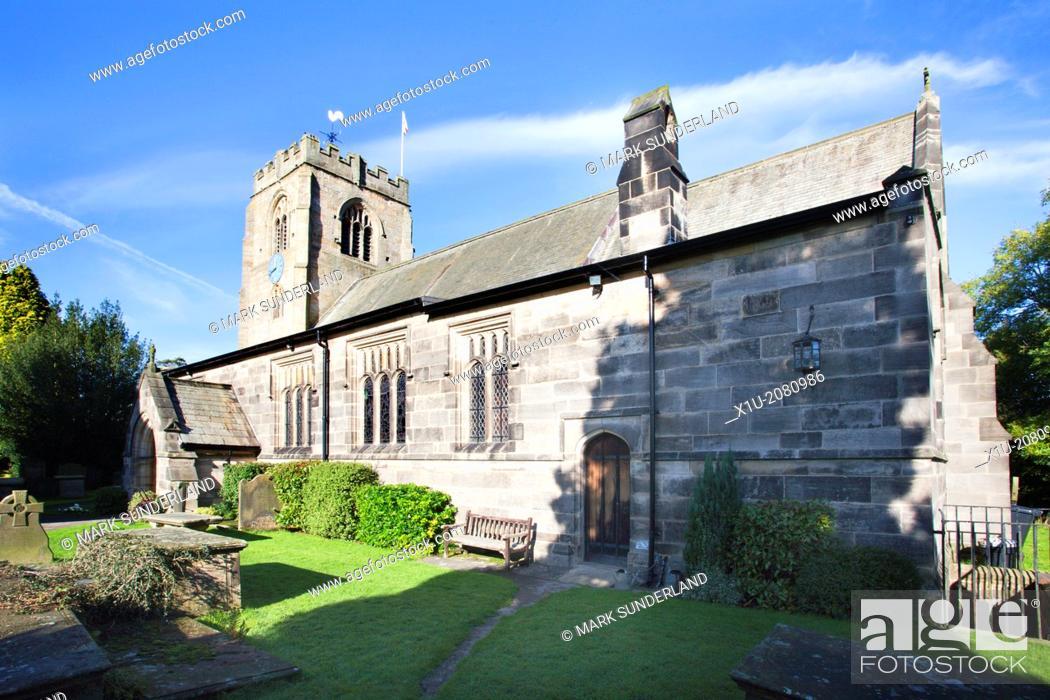 Imagen: St Thomas a Becket Church at Hampsthwaite North Yorkshire England.