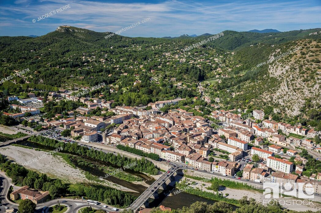 Stock Photo: France, Gard, Anduze, the Porte des Cevennes.