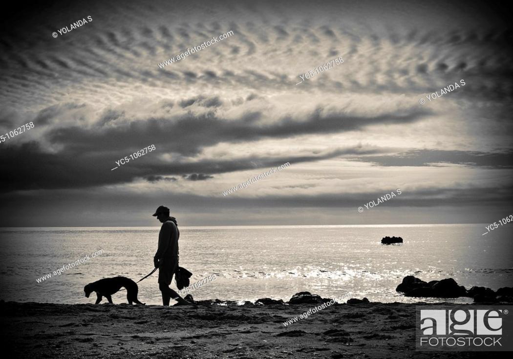 Stock Photo: Walking on beach.