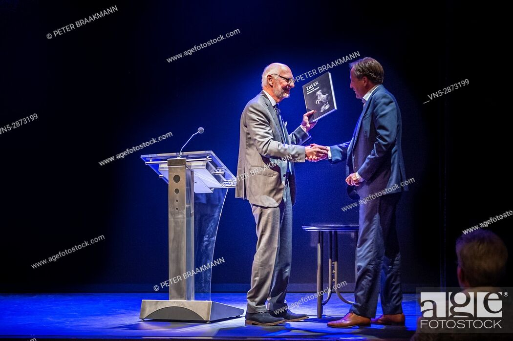 Stock Photo: BERGEN OP ZOOM - THE NETHERLANDS - Opening exhibition about silver by Alexander Pechthold in theatre De Maagd Bergen op Zoom.