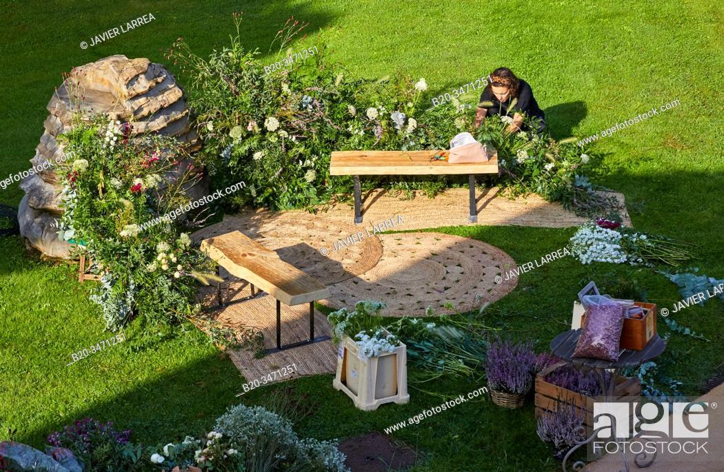 Stock Photo: Floral decoration, Event Celebration, Wedding, Hondarribia, Gipuzkoa, Spain.