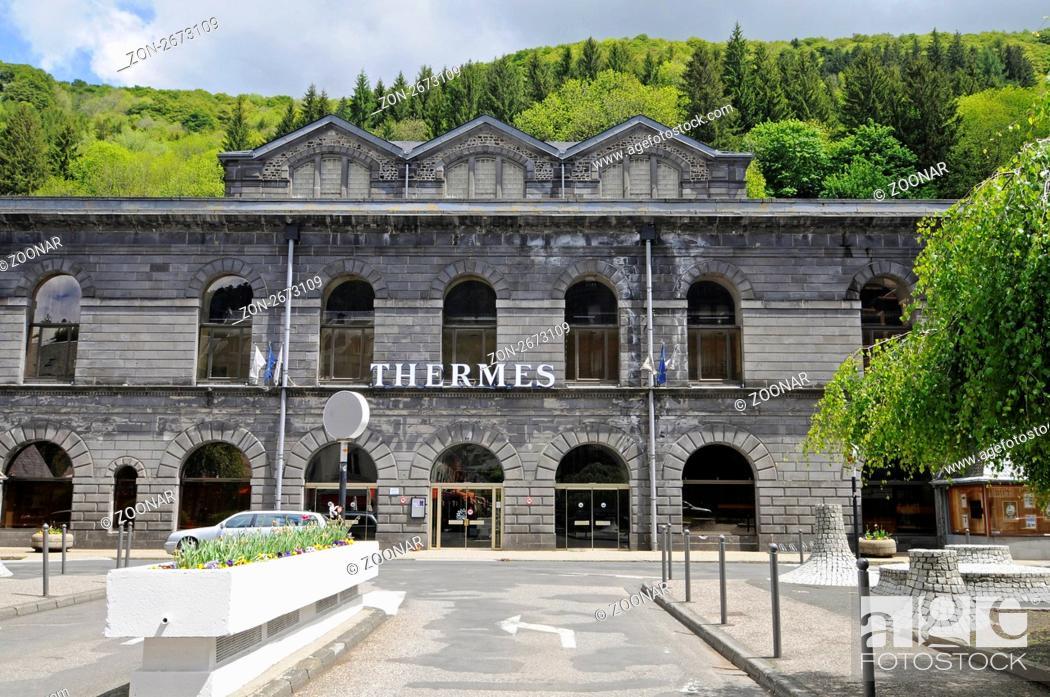 Stock Photo: Etablissement Thermal, thermal bath, Mont-Dore, Auvergne Region, France, Europe, Etablissement Thermal, Thermalbad, Mont-Dore, Region Auvergne, Frankreich.