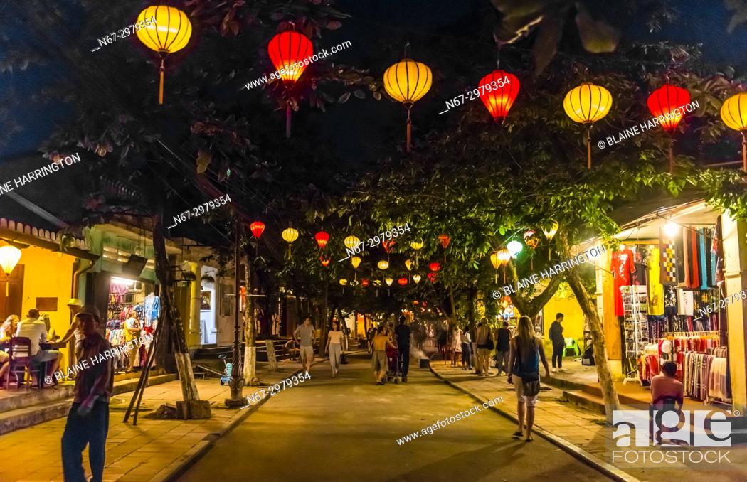 Lanterns Hoi An Full Moon Lantern Festival Hoi An Vietnam Stock Photo Picture And Rights Managed Image Pic N67 2979354 Agefotostock