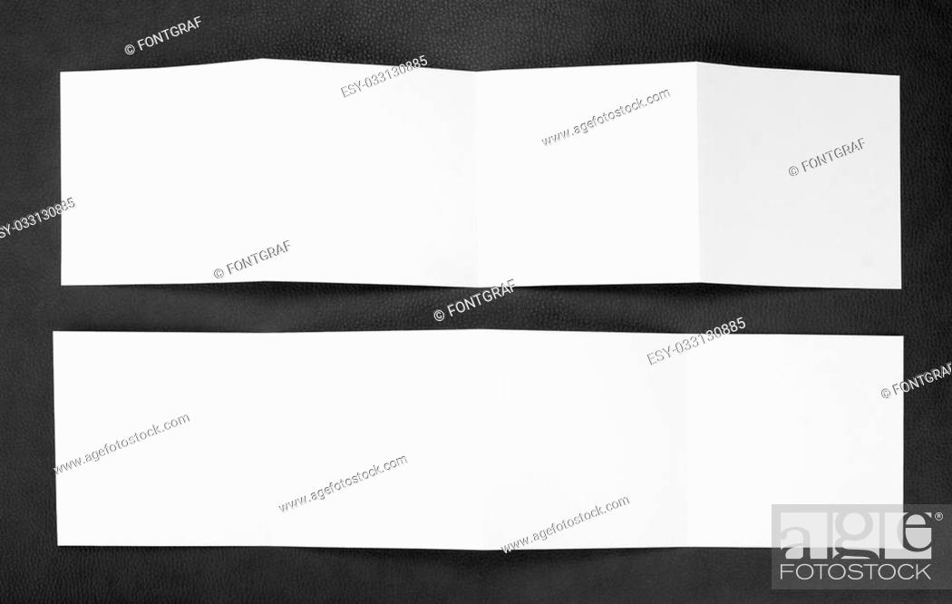 Stock Photo: identity design, corporate templates, company style, set of booklets, blank white folding paper flyer.