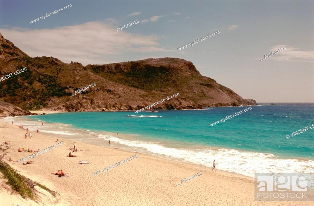 Stock Photo: French Caribbean - Caribbean Islands - Saint Barthelemy - The Grande Saline Cove.