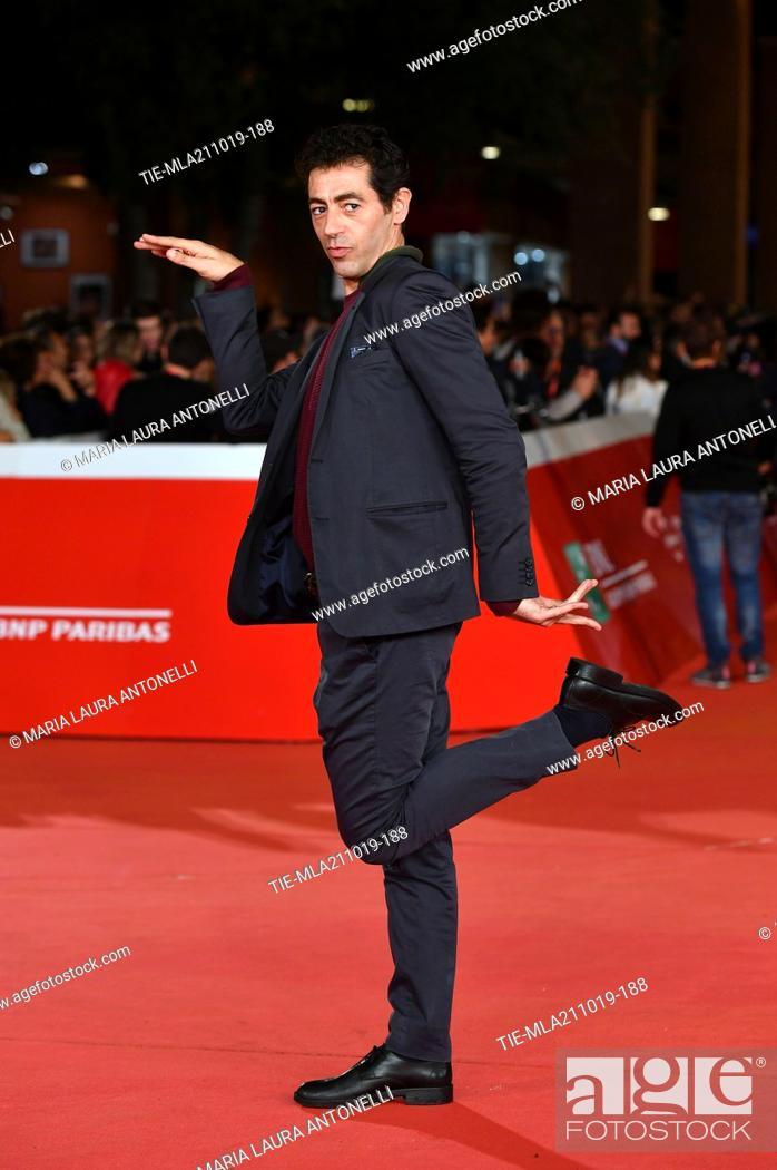 Imagen: Giorgio Careccia during the red carpet of film ' Il ladro di giorni ' at the 14th Rome Film Festival, Rome, ITALY-20-10-2019.