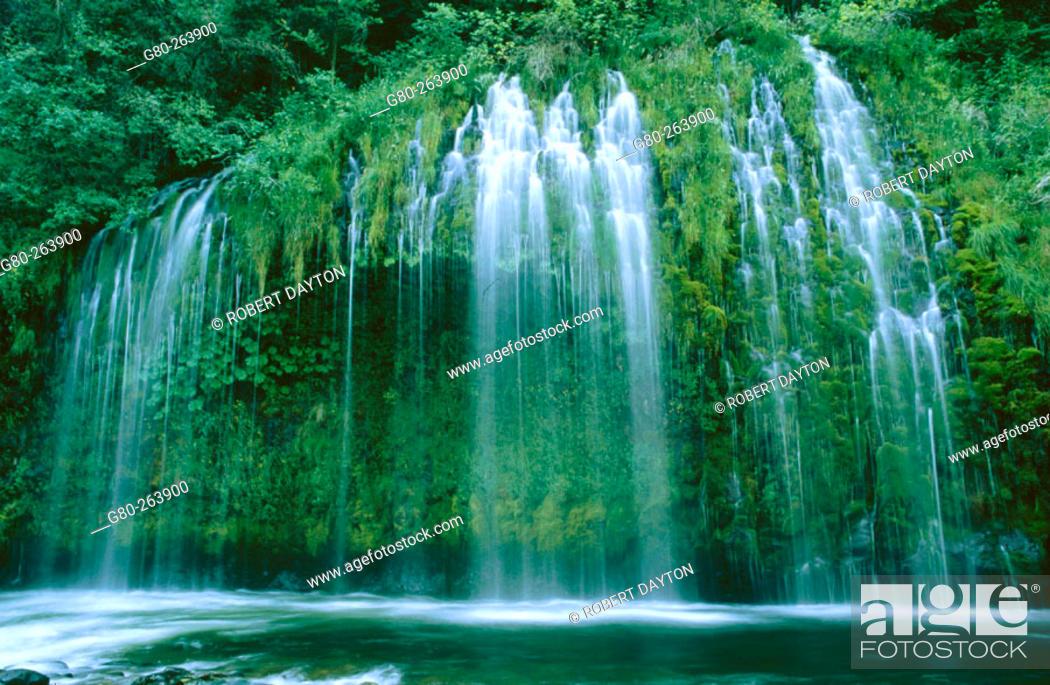 Stock Photo: Mossbrae Falls. California. USA.