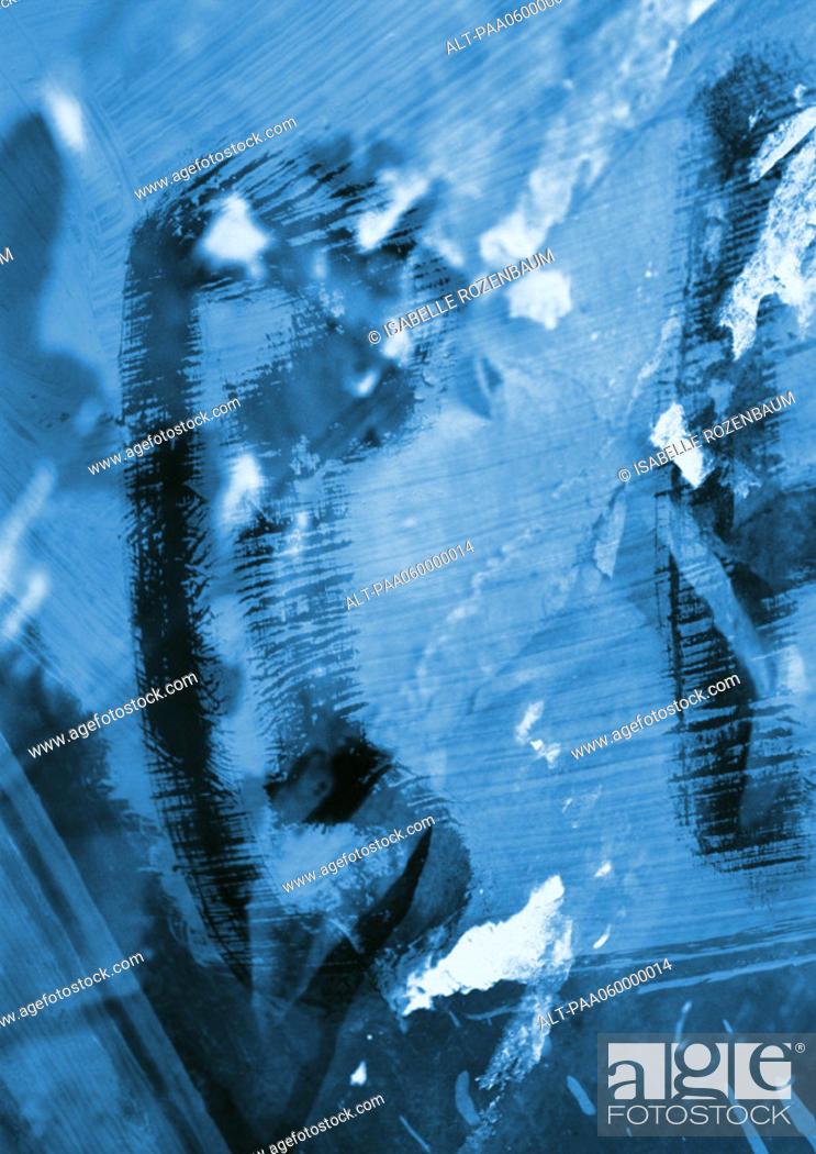Stock Photo: Phone symbol, close-up.
