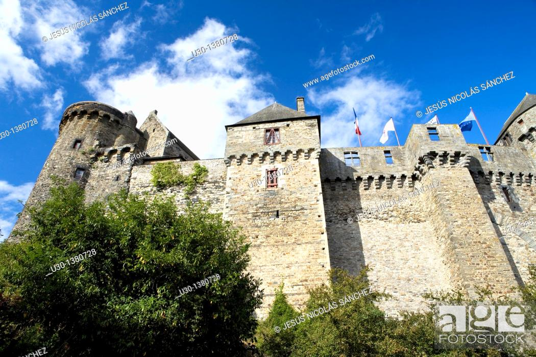 Stock Photo: Vitré castle, in Ille-et-Vilaine department  Brittany Region, France.