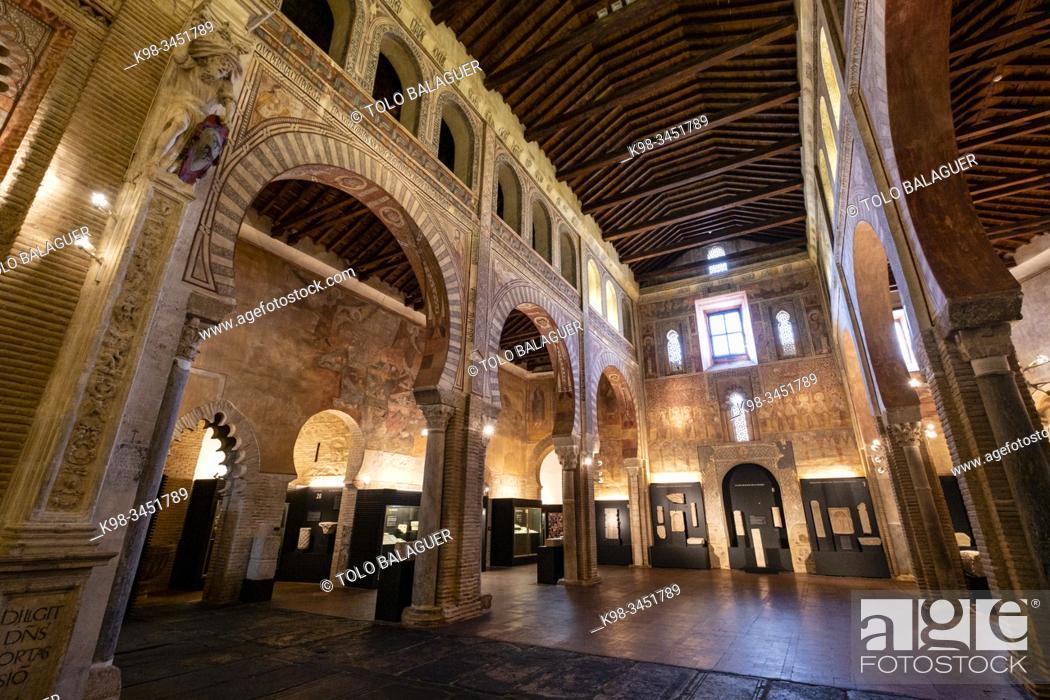 Stock Photo: Museo de los Concilios y la Cultura Visigoda, Iglesia de San Román, primer mudéjar toledano (S. XIII), Toledo, Castilla-La Mancha, Spain.
