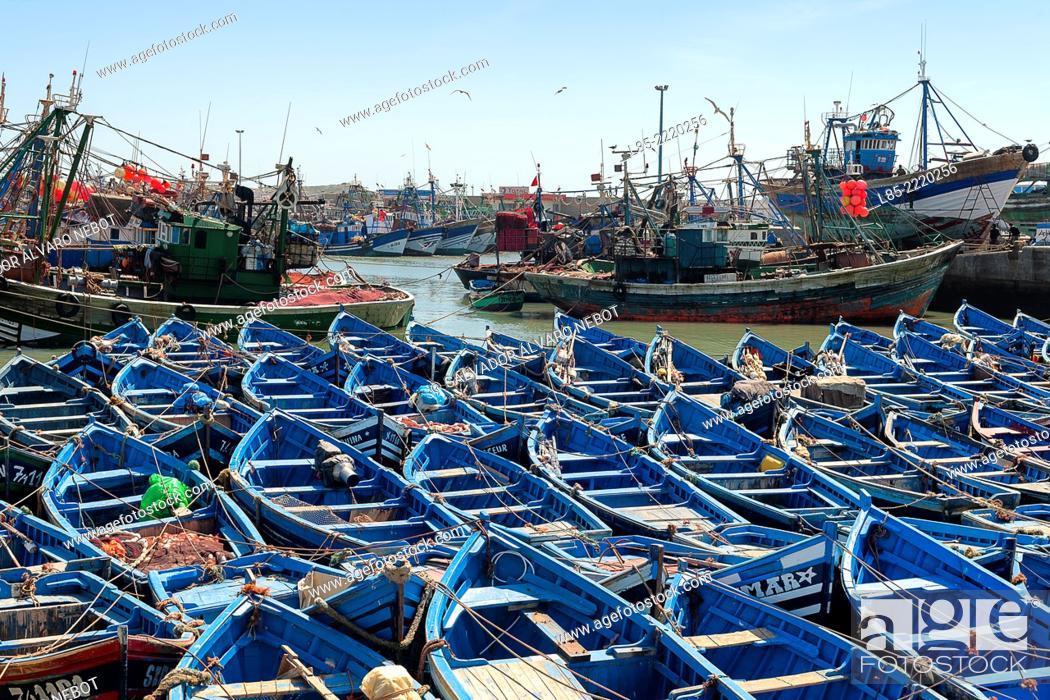 Stock Photo: Port of Essaouira, Essaouira, Morocco.