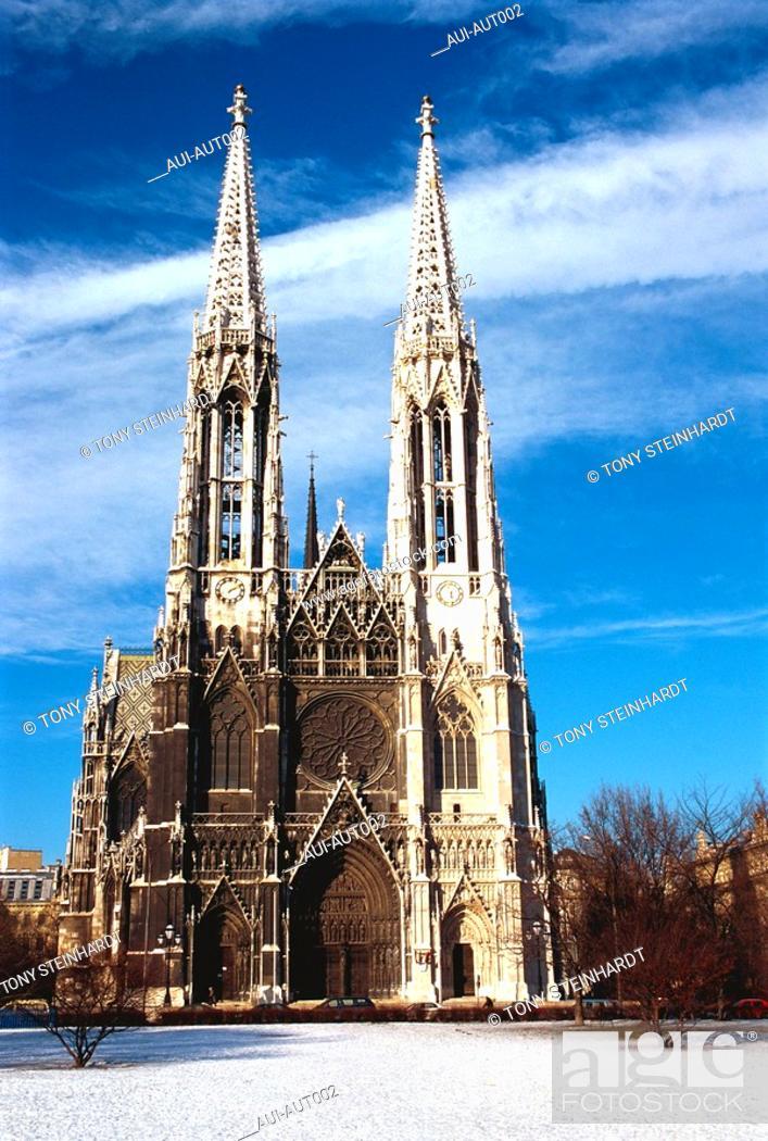 Stock Photo: Austria - Vienna - Votivkirche.