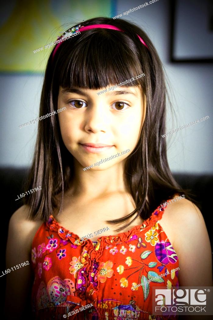 Stock Photo: Portrait of young girl.