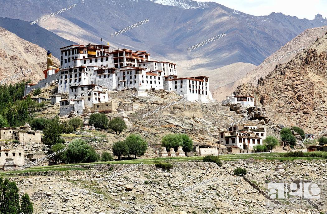 Stock Photo: Likir Gompa, buddhist monastery, in Ladakh, India.