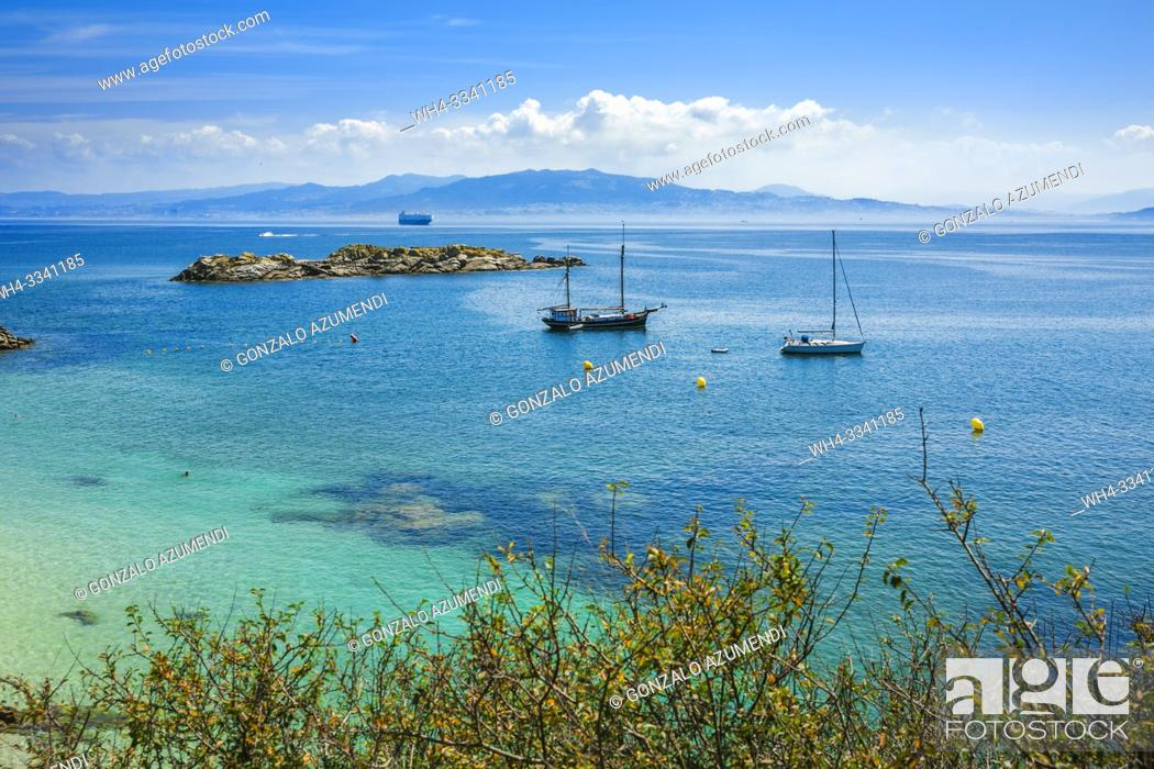 Stock Photo: Cíes Islands. Maritime Terrestrial National Park of the Atlantic Islands. Pontevedra Province. Galicia. Spain.