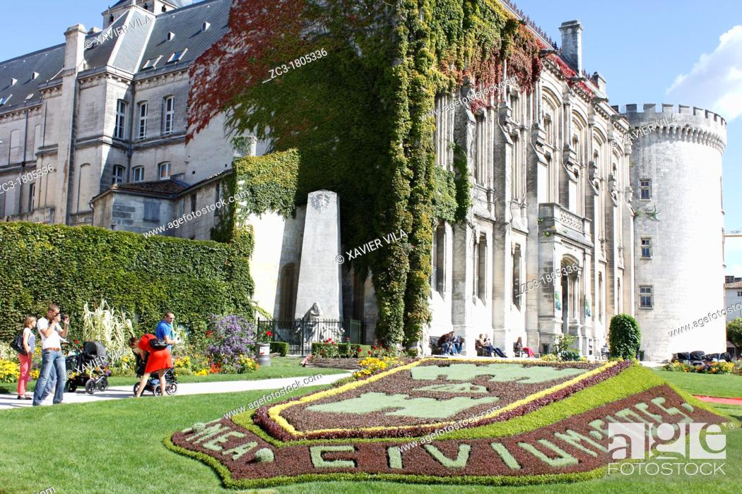 Stock Photo: Castle and town hall of Angoulême, Charente, Poitou-Charentes, France.