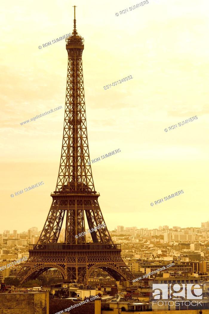 Stock Photo: Old Eiffel Tower.