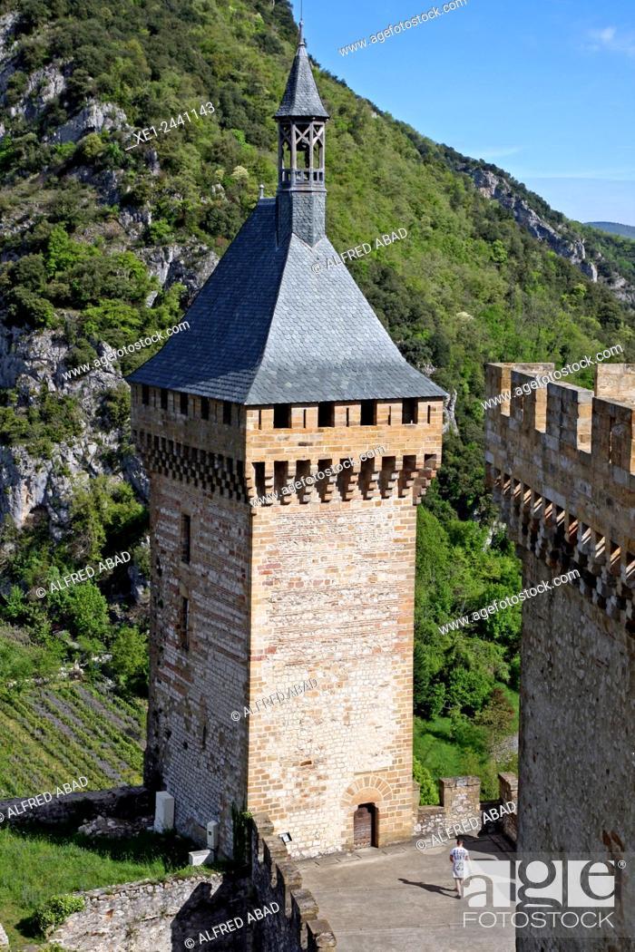 Stock Photo: Castle of Foix, Ariege, France.