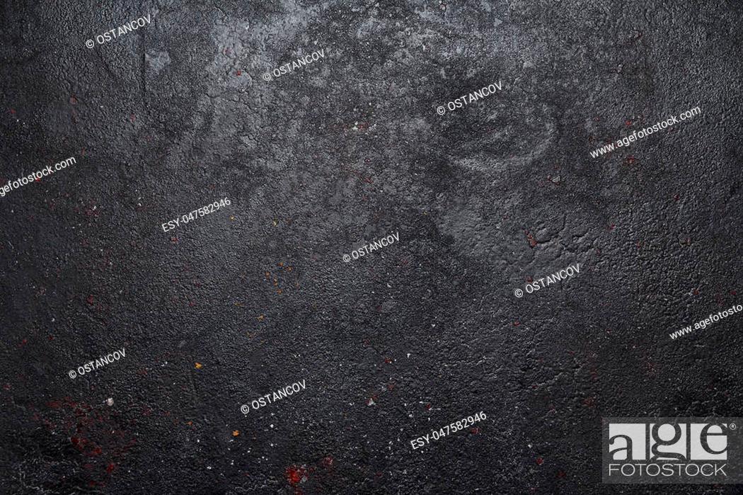 Stock Photo: Dark grey black slate background or texture.