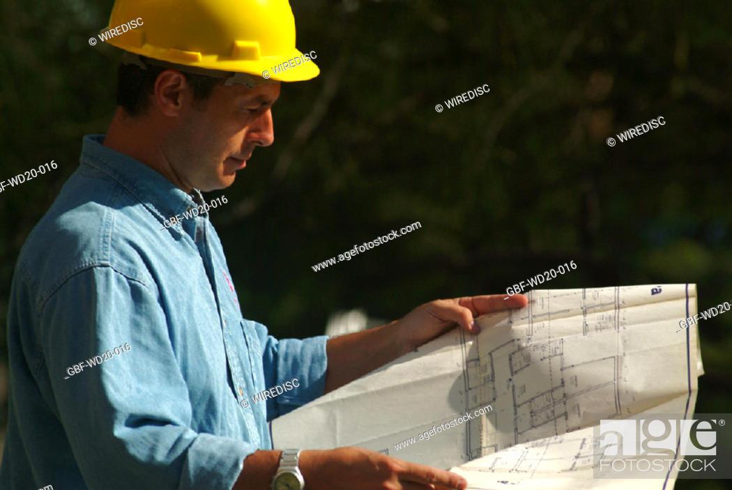 Stock Photo: Men, engineer, Architecture, Brazil.