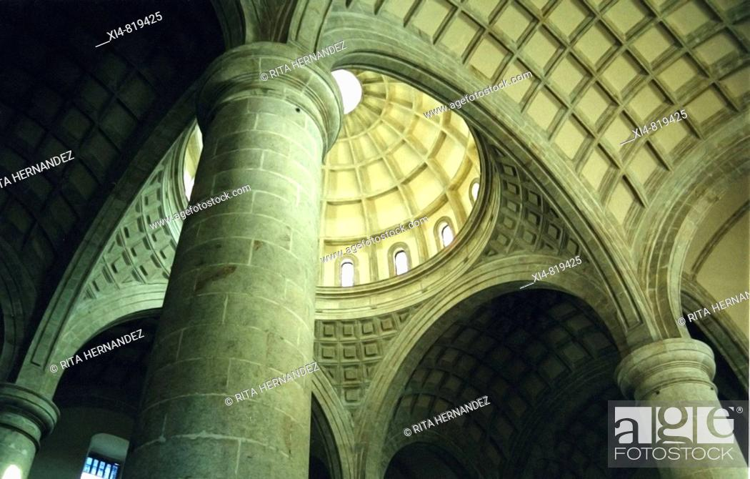 Stock Photo: Cupola interior from side nave at Oaxaca Cathedral in Mexico.