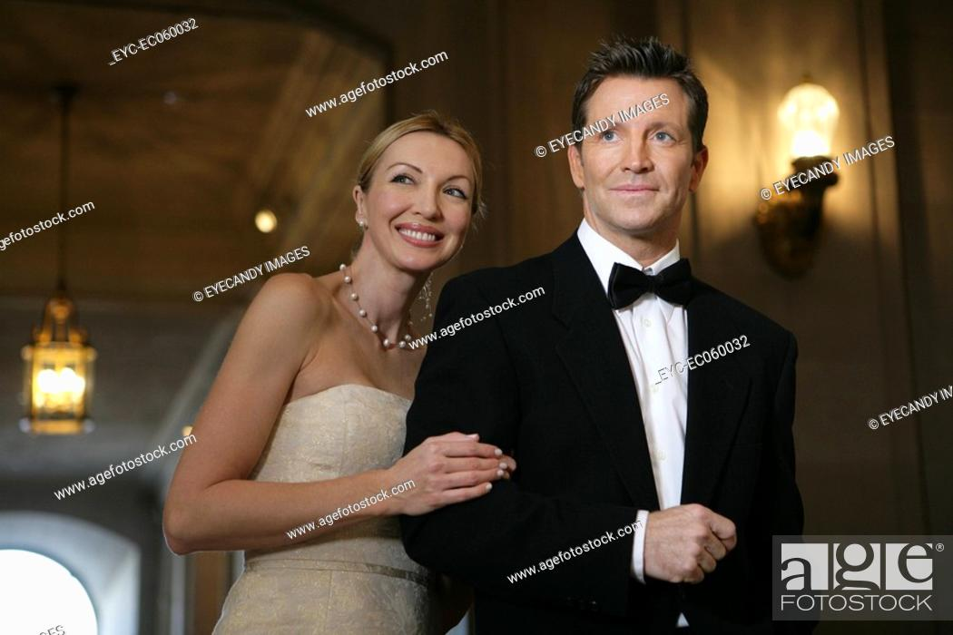 Stock Photo: Boomer couple in formal wear.