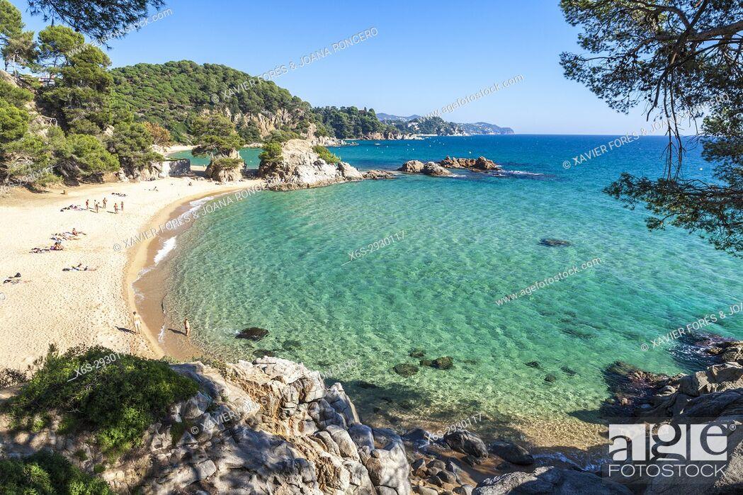 Imagen: Treumal Cove in Lloret de Mar, Costa Brava Girona, Spain.