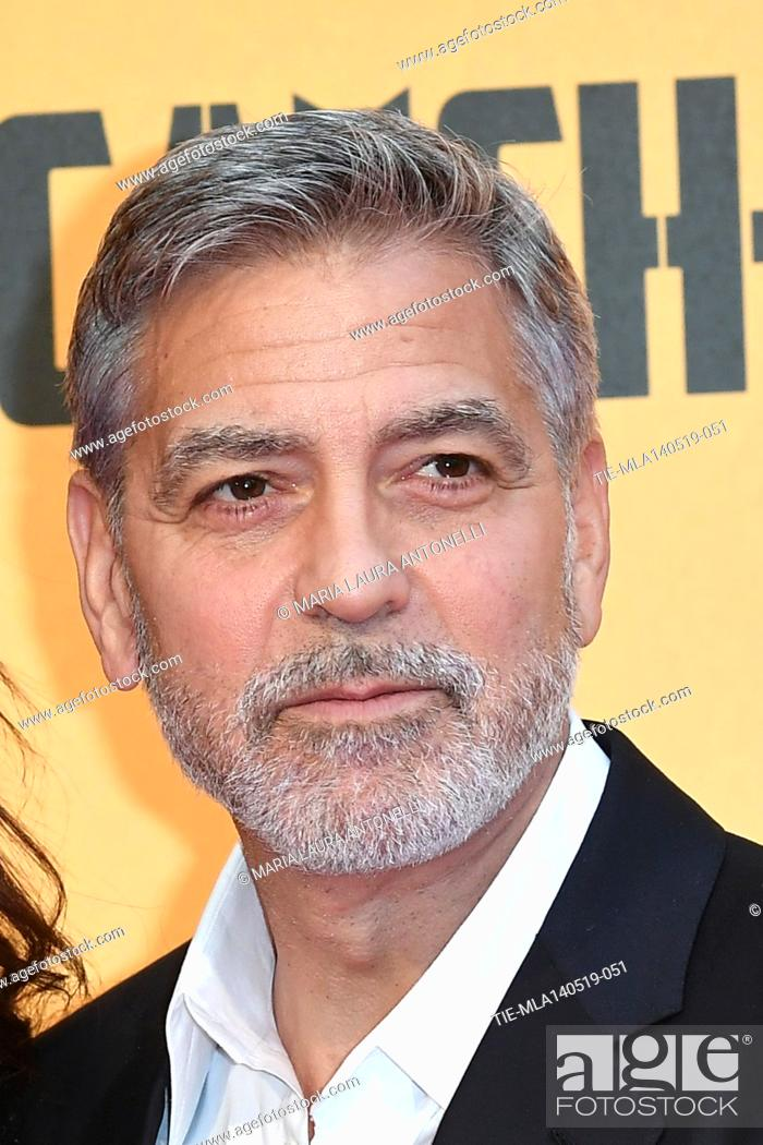 Stock Photo: George Clooney during the Red carpet for the Premiere of film tv Catch-22, Rome, ITALY-13-05-2019.