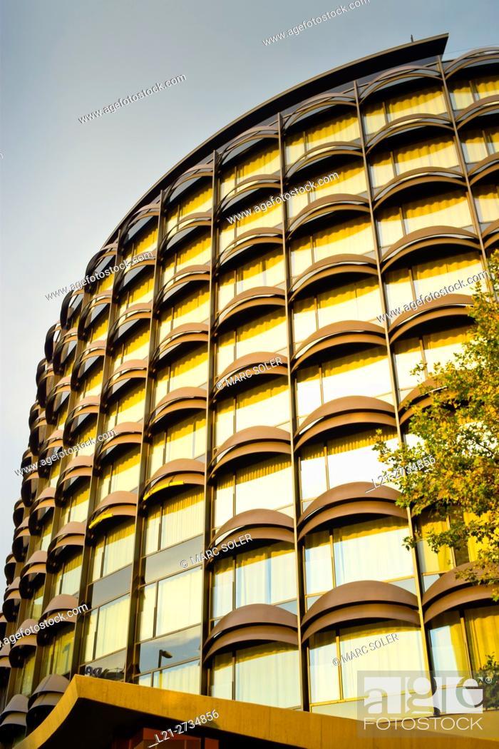 Stock Photo: Winterthur office building. Barcelona, Catalonia, Spain.