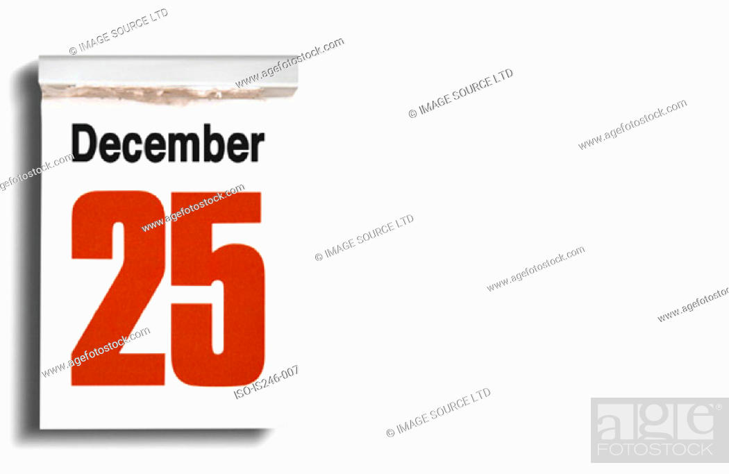 Stock Photo: Christmas date on calendar.