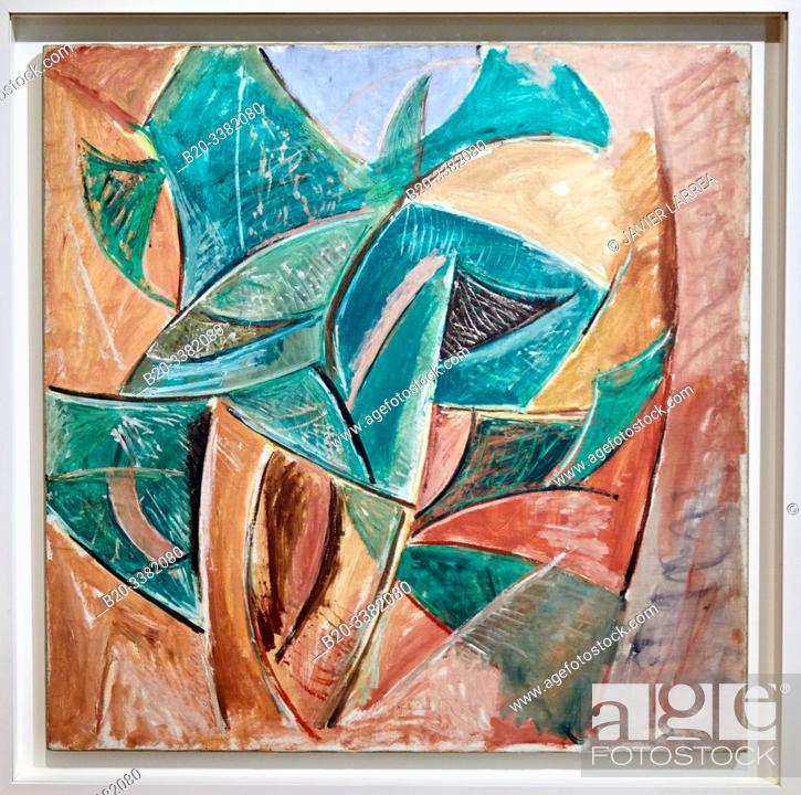 """Stock Photo: """"L'Arbre"""", 1907, Pablo Picasso, Picasso Museum, Paris, France, Europe."""