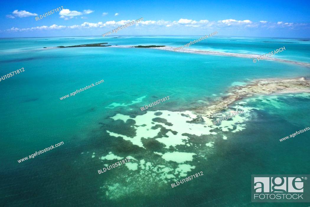 Stock Photo: Everglades National Park from above.