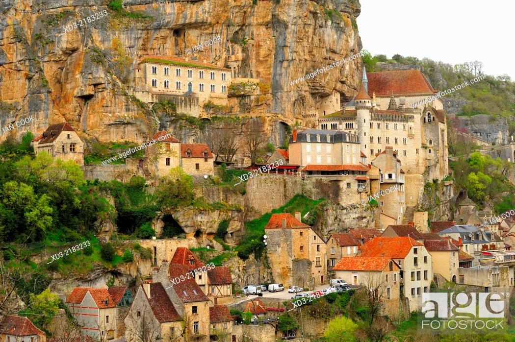 Stock Photo: Rocamadour, Lot Department, Aquitaine, France.