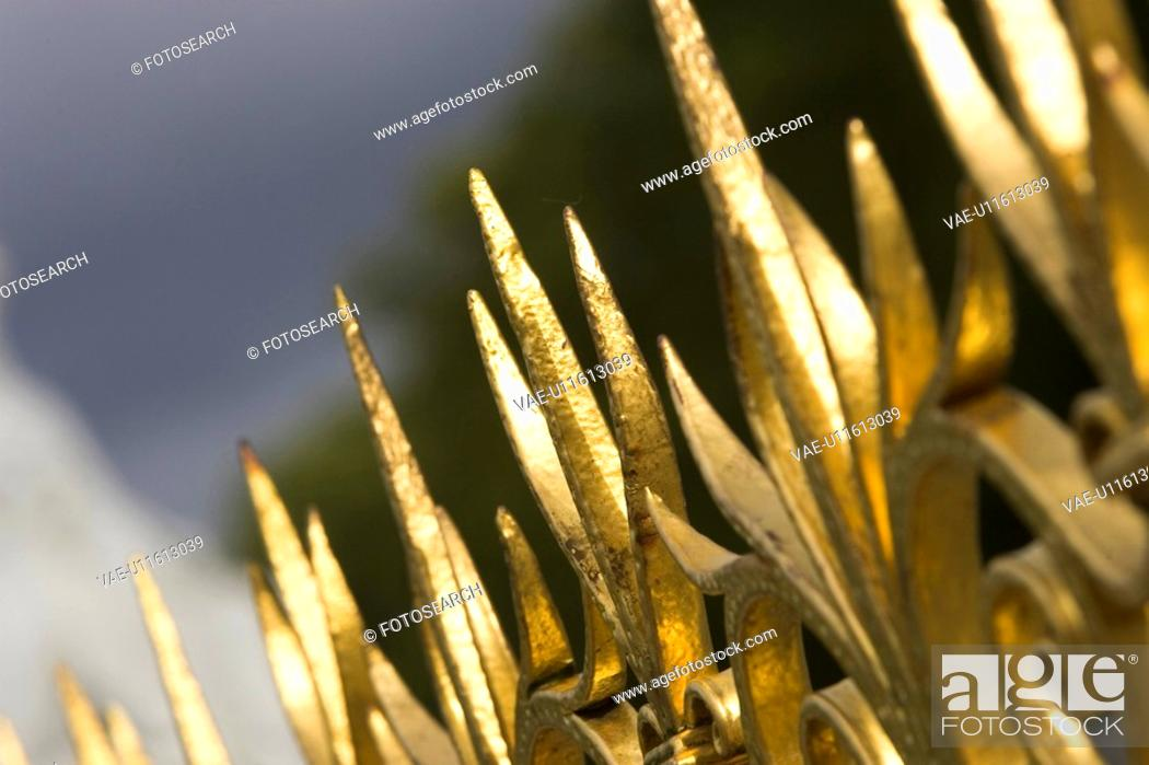 Stock Photo: Close-Up, Gilded, Golden, Grille.