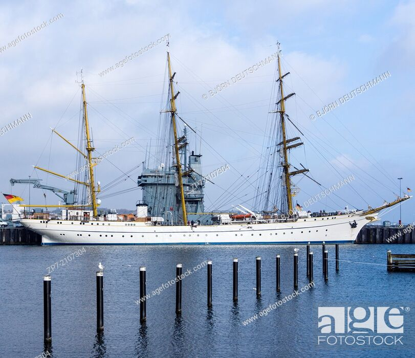 Stock Photo: The tall ship of the German Navy called Gorch Fock.