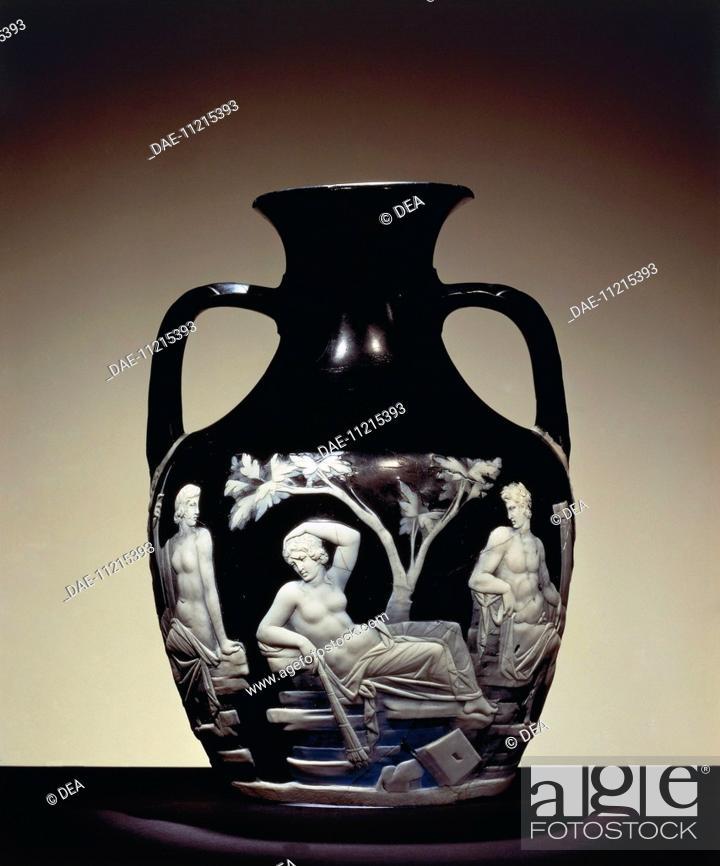Roman Civilization 1st Century Ad Glassware Portland Vase Stock
