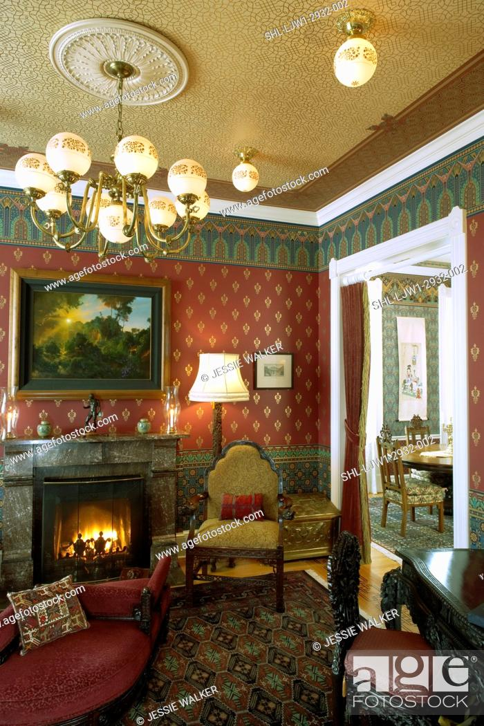 Living Rooms Aesthetic Movement Victorian Revival Wallpaper