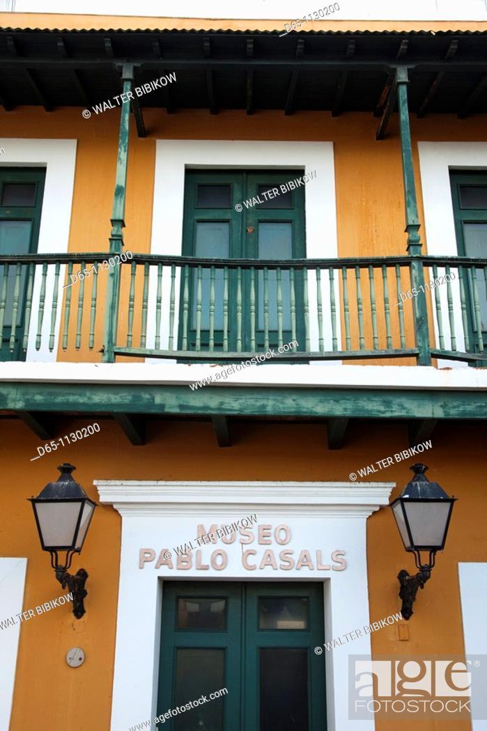 Photo de stock: Puerto Rico, San Juan, Old San Juan, Pablo Casals Museum, dedicated to the world-famous cellist.