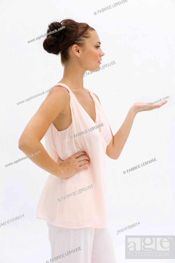 Stock Photo: Fashion model posing.