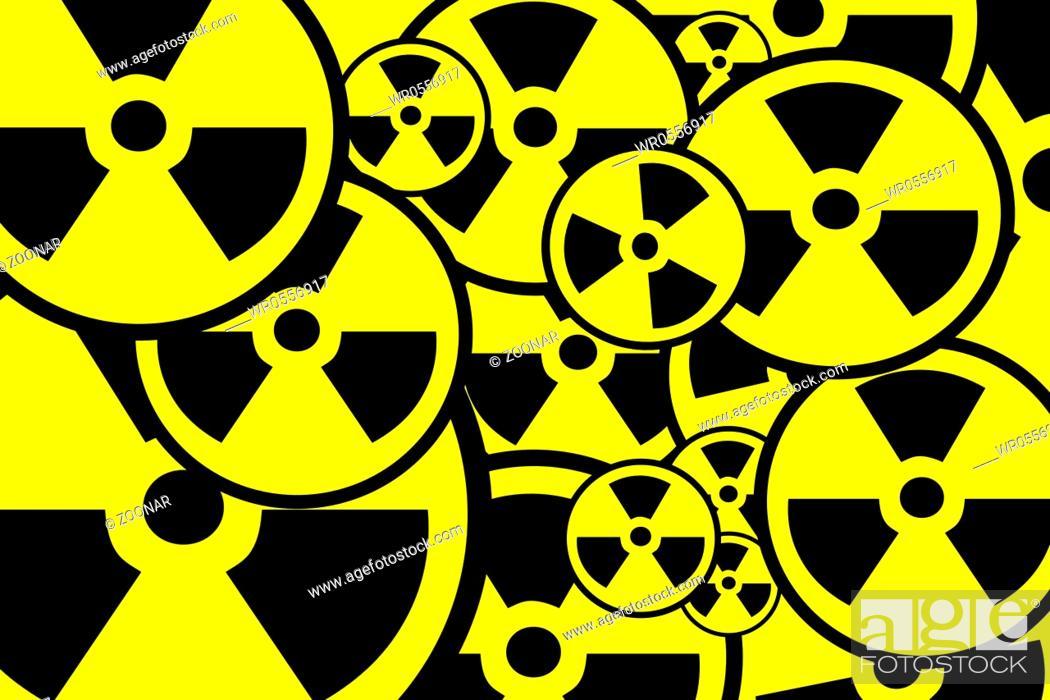 Stock Photo: Radiation sign background.