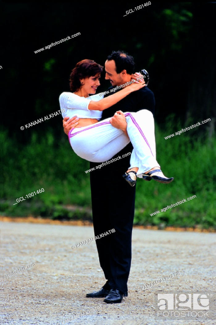 Stock Photo: Romantic couple in a park.