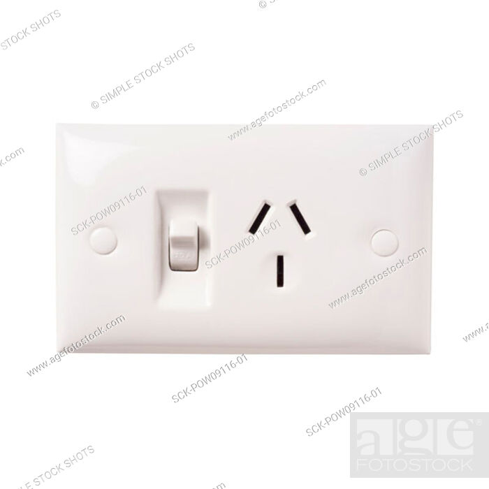 Stock Photo: electricity outlet.