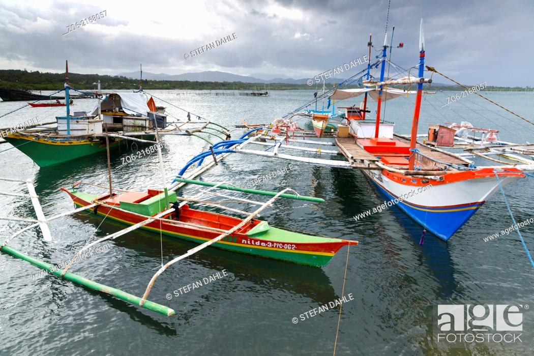 Stock Photo: Boat in the Port of Mangingisda in Puerto Princesa, Palawan, Philippines.