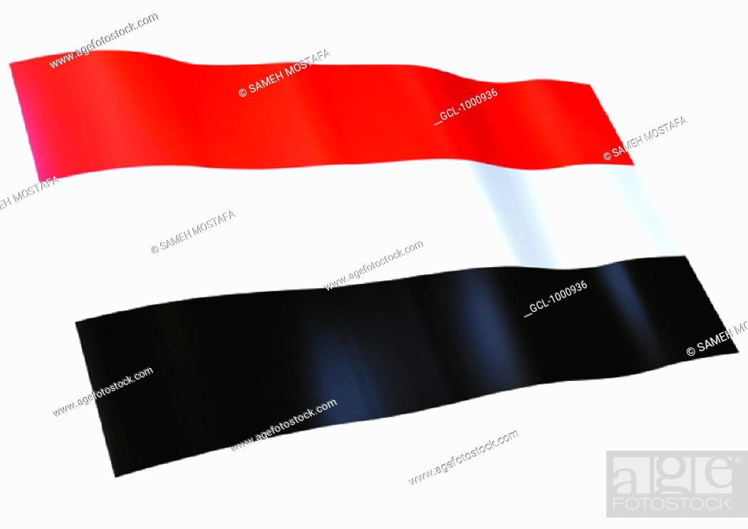 Stock Photo: flag of Yemen.