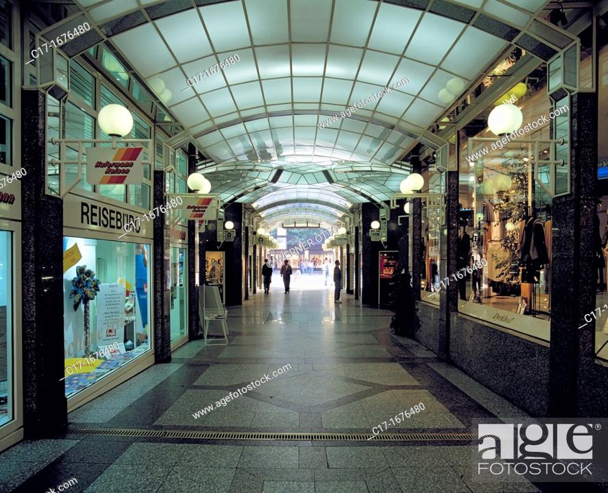 Stock Photo: Germany, Dortmund, Ruhr area, Westphalia, North Rhine-Westphalia, NRW, Corso-Passage, Corso passage, shopping arcade, shops, shop windows.